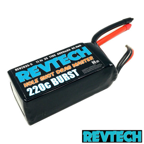 3S 11.1V 4000MAH 110C 220C BURST LIPO DRAG RACING PACK NO PLUG RE