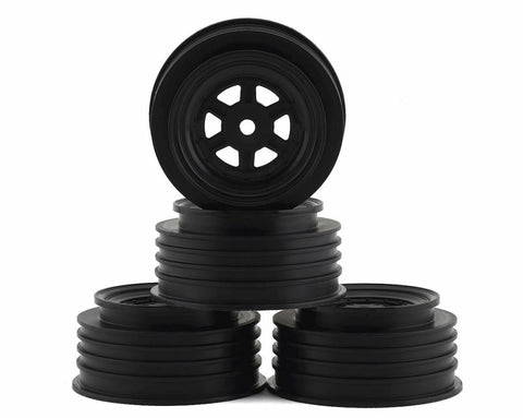 DE Racing Gambler Rear Late Model Wheels (AE/TLR) (Black) w/12mm Hex DER-GLR-AS