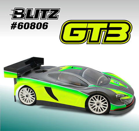 BLITZ GT3 1/8th GT Body Shell 0.8mm #60806-10