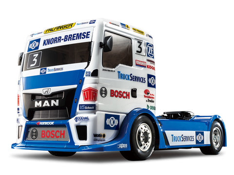Tamiya Racing Truck! Team Hahn Racing MAN TGS on a TT01E 58632
