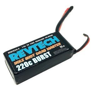 2S 7.4V 4000MAH 110C 220C BURST LIPO DRAG RACING PACK NO PLUG REV2034-5