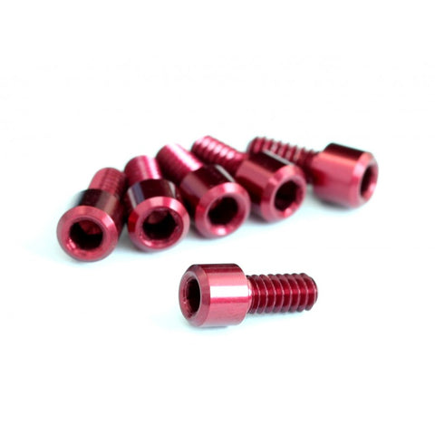 "Roche - 4-40x1/4"" Cap Head Screw with 2mm Hex, Red"