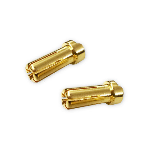 TEAM ZOMBIE 5MM ULTRA LOW RESISTANCE LCG LOW PROFILE PLUG 2PCS