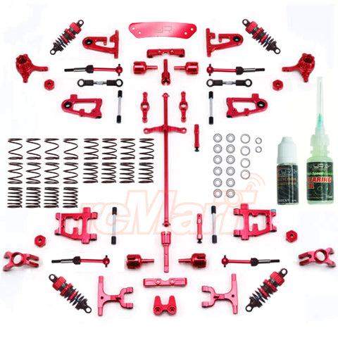 Yeah Racing Aluminum Conversion Kit Ultimate Version Red For Tamiya TRUCKS TT-01/ TT-01E #CK-TT01/EV2RD [CK-TT01/EV2RD]