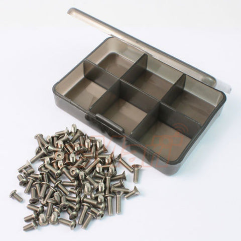 Yeah Racing Titanium Screw Assorted Set with FREE Mini Box for Tamiya TT01E TS-TT01E