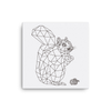 Bare Bones Squirrel Canvas