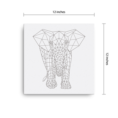 Bare Bones Elephant Canvas