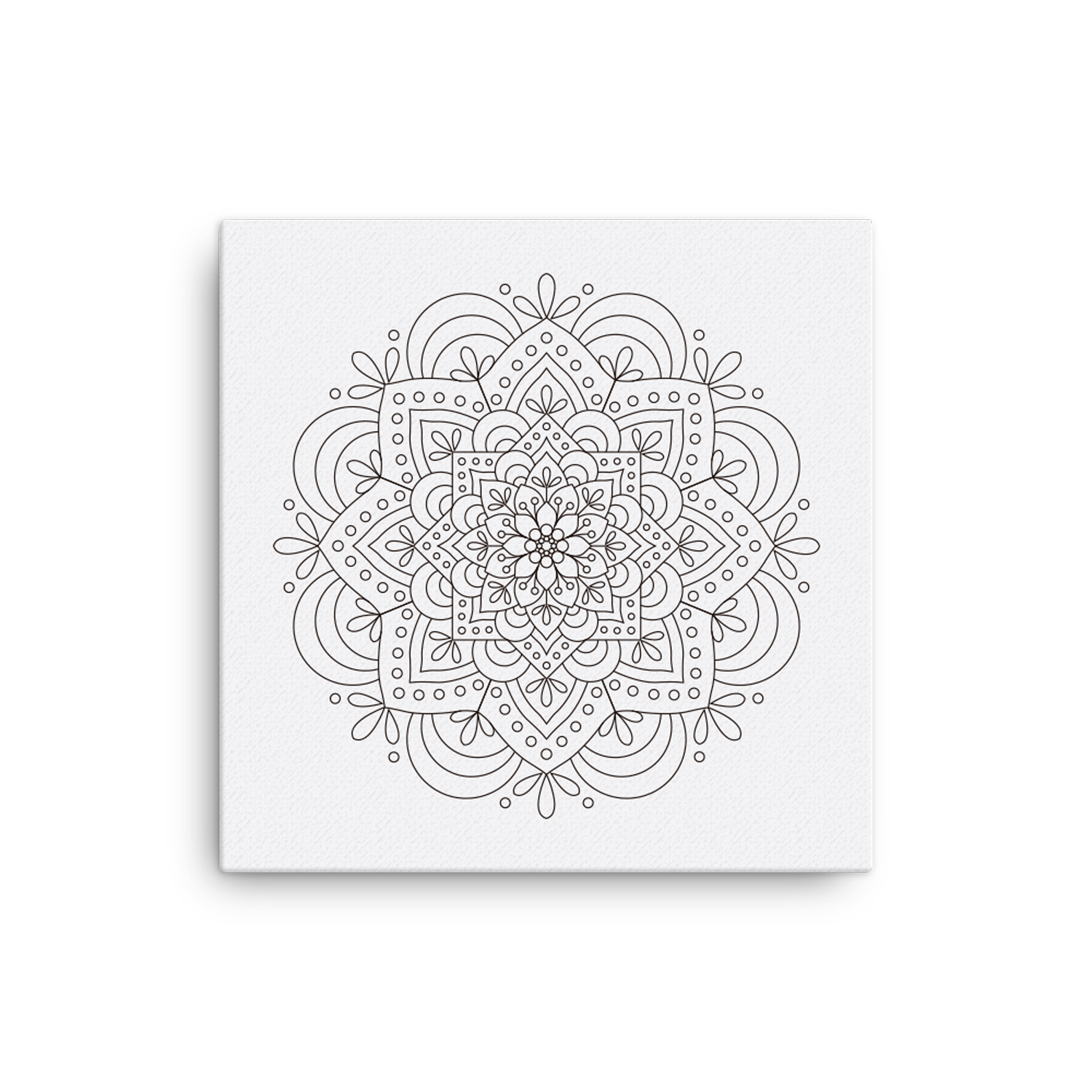 Mandala Number 2 Canvas