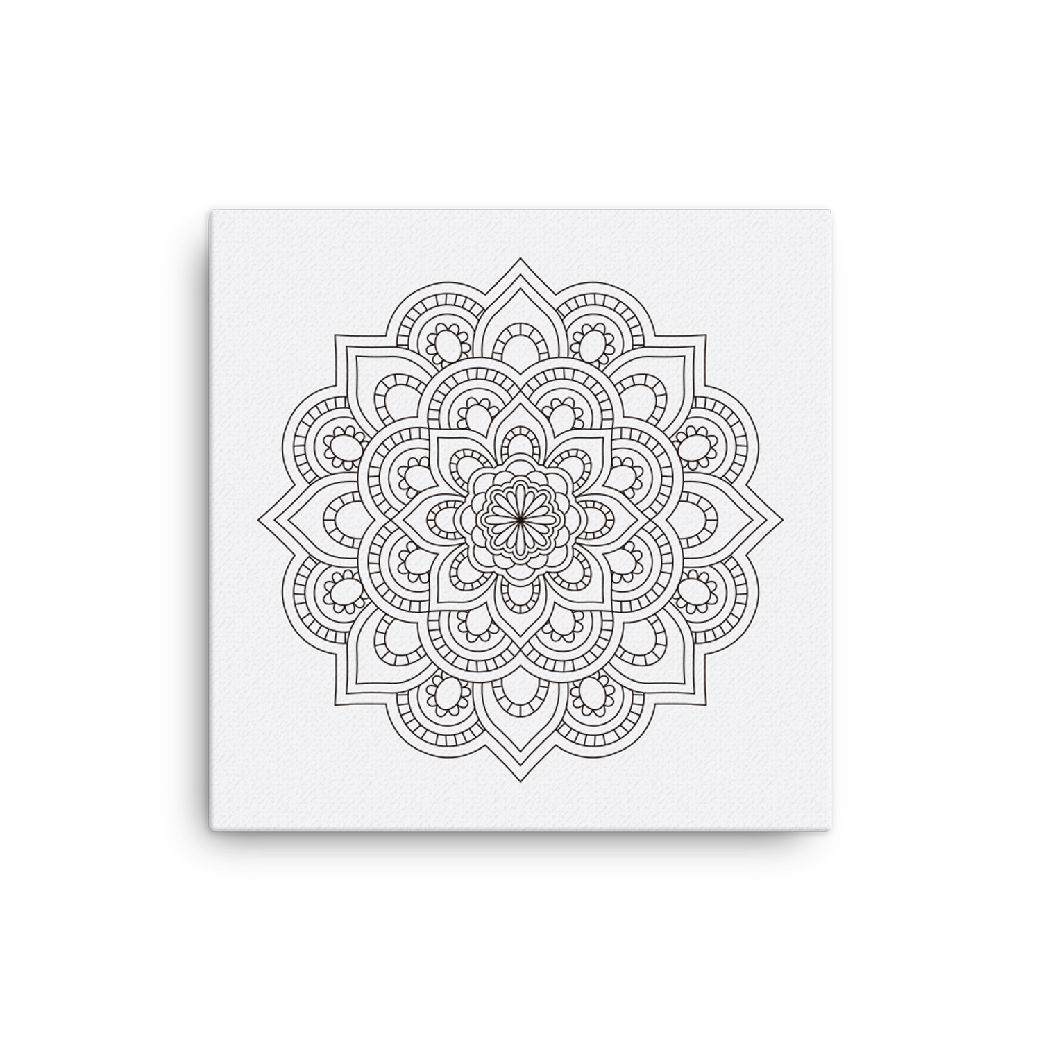 Mandala Number 3 Canvas