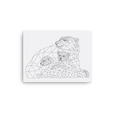 Bare Bones Polar Bears Canvas