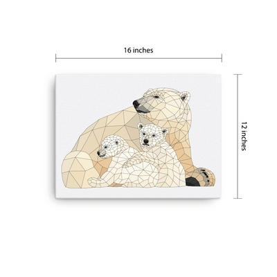Polar Bears Canvas