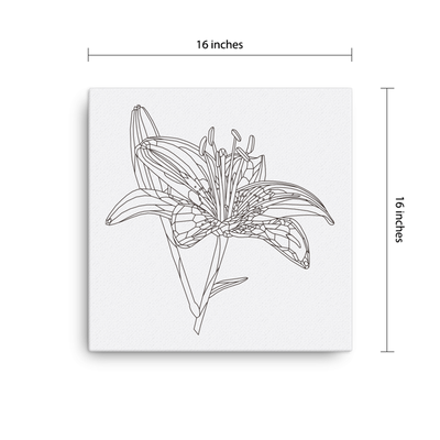 Bare Bones Lily Canvas