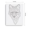 Bare Bones Fox Canvas