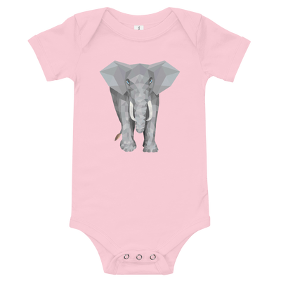 Elephant Baby Short Sleeve One Piece
