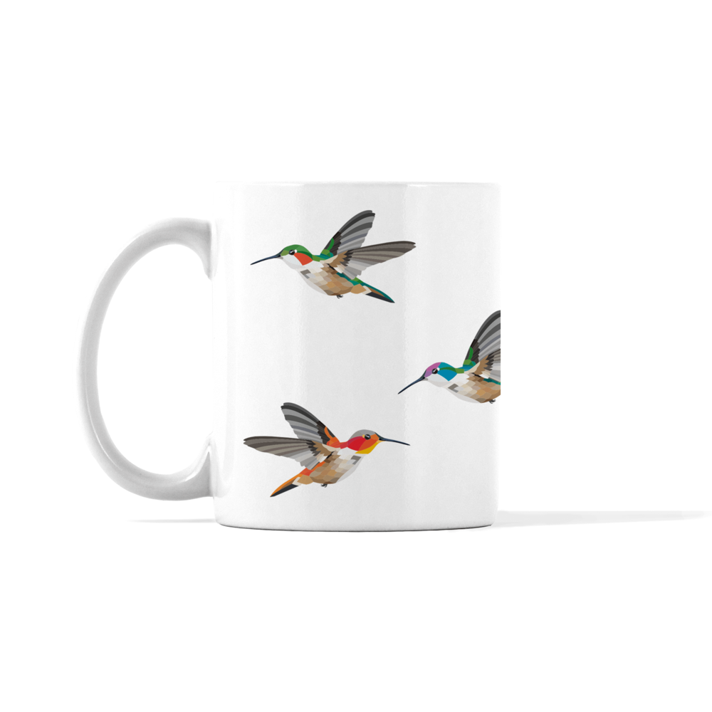 Flying Hummingbirds Mug
