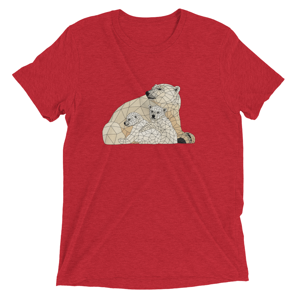 Men's Accentuated Polygon Polar Bears T-Shirt