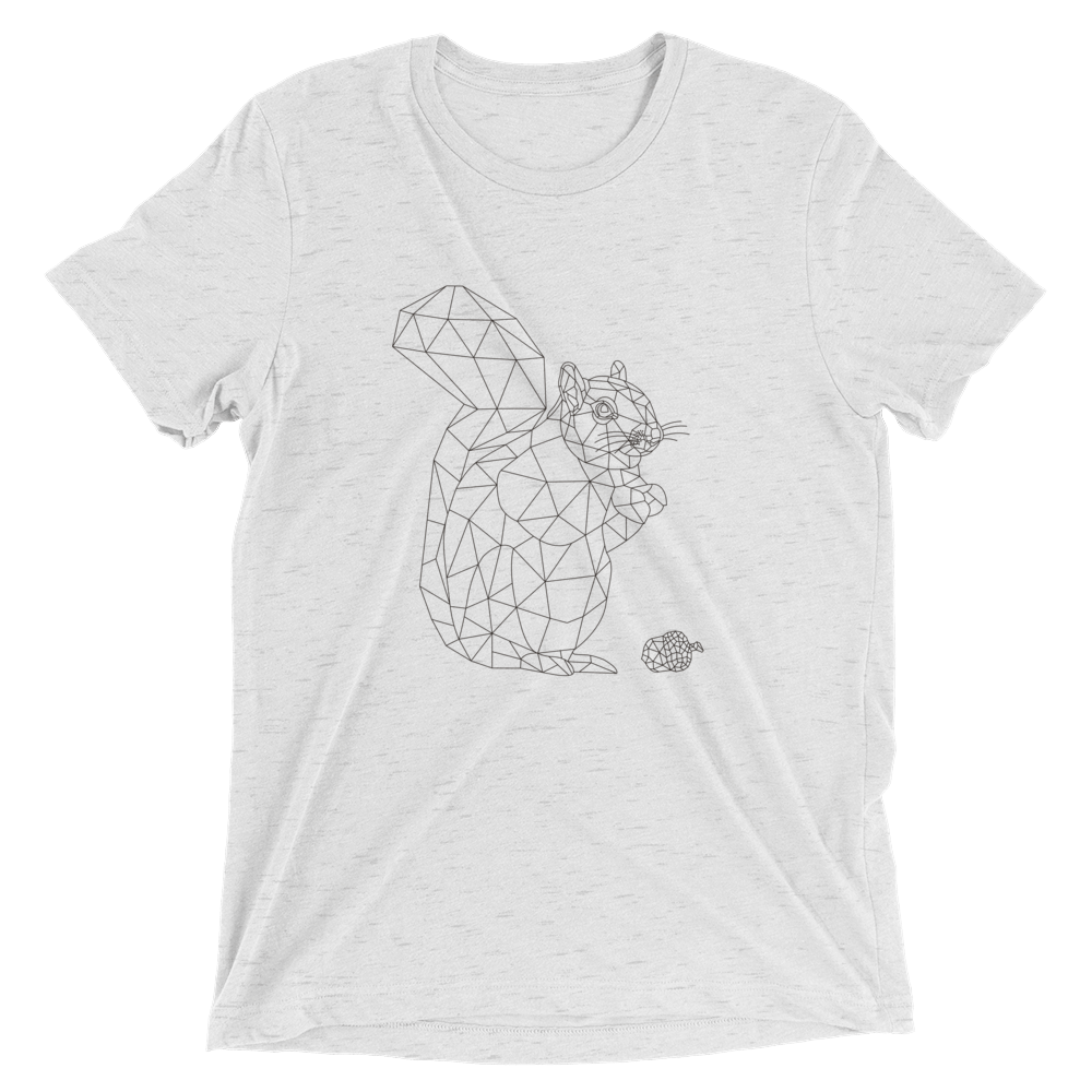 Men's Bare Bones Polygon Squirrel T-Shirt