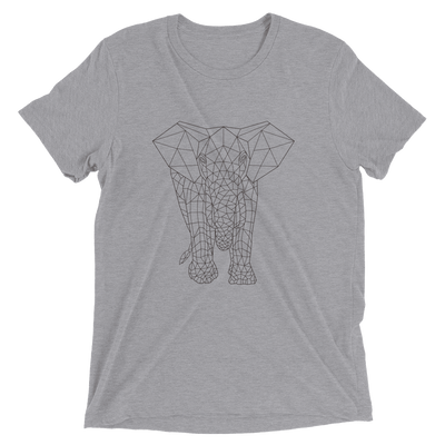 Men's Bare Bones Polygon Elephant T-Shirt