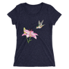 Women's Polygon Lily and Hummingbird T-Shirt