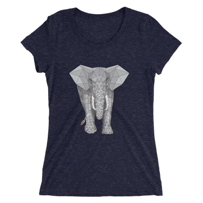 Women's Accentuated Polygon Elephant T-Shirt