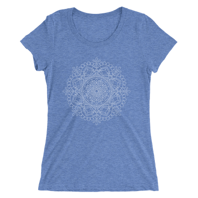 Women's White Mandala Number 1 T-Shirt