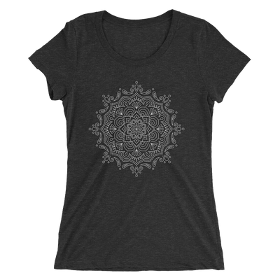 Women's White Mandala Number 2 T-Shirt