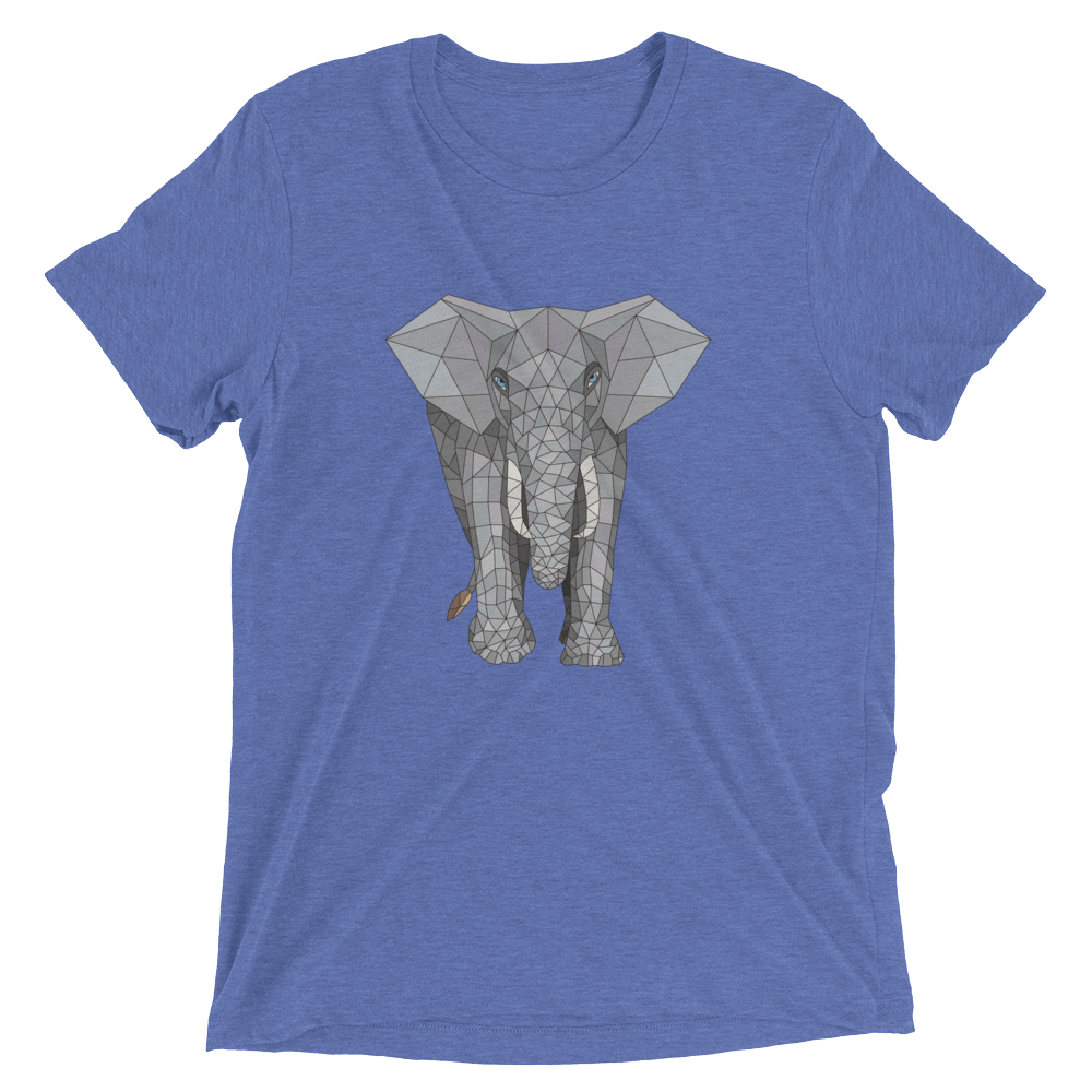 Men's Accentuated Polygon Elephant T-Shirt