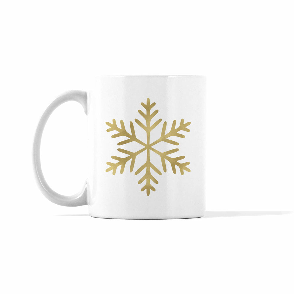 Gold and Silver Snowflake 2 Mug