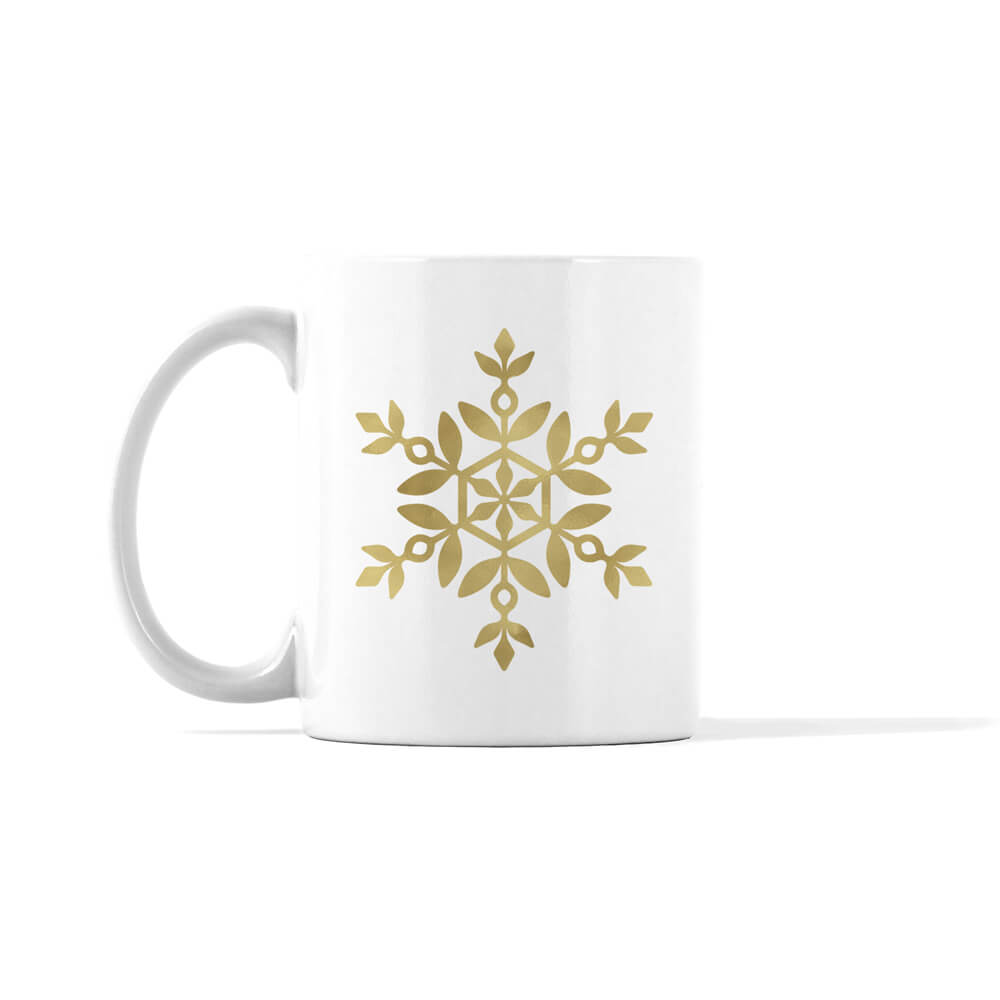 Gold and Silver Snowflake 1 Mug