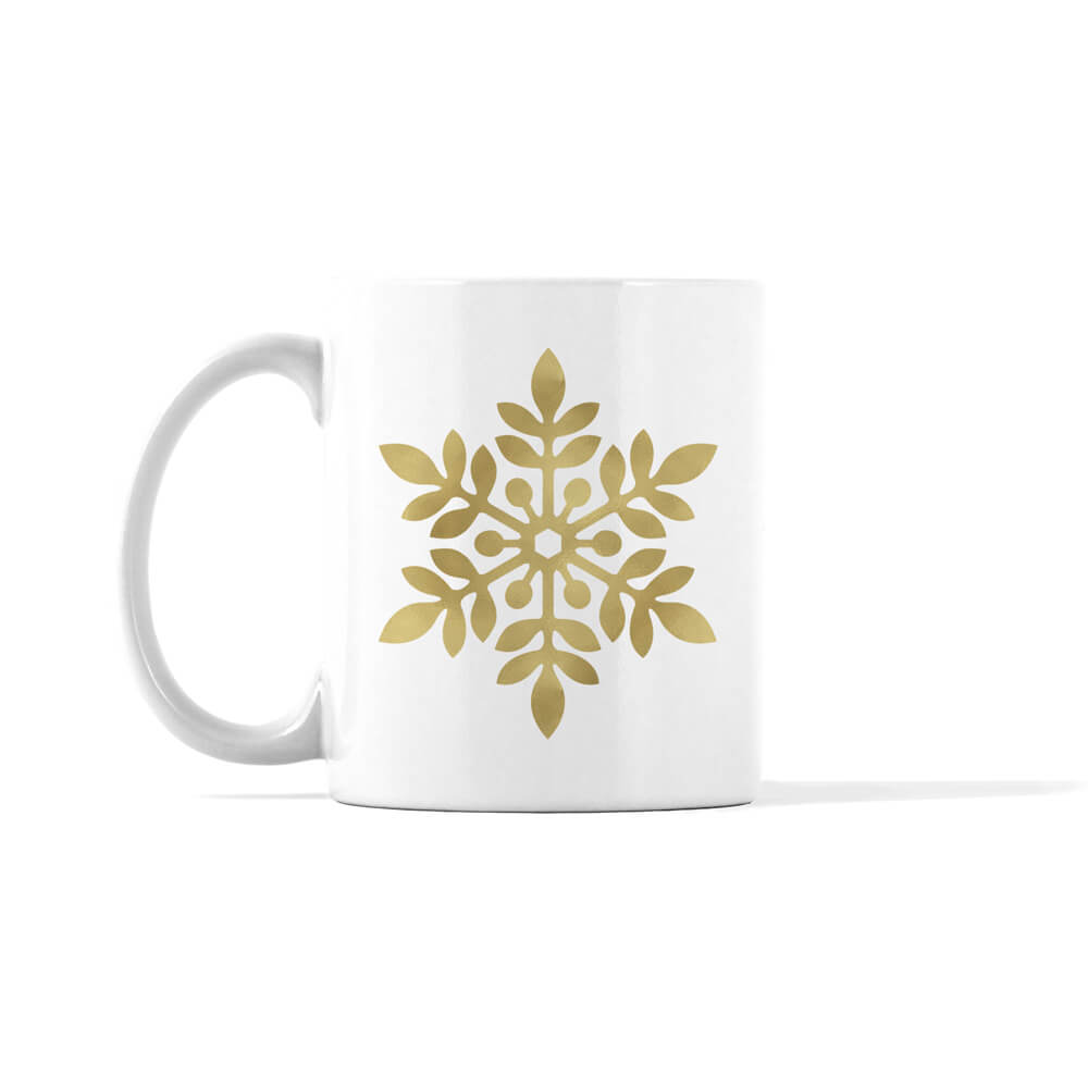 Gold and Silver Snowflake 3 Mug