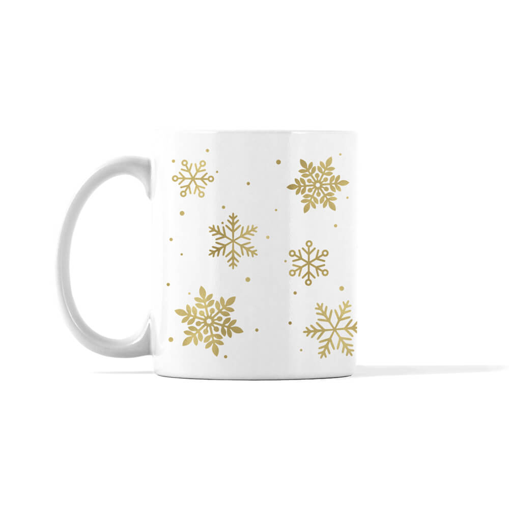 Gold and Silver Snowflakes Mug