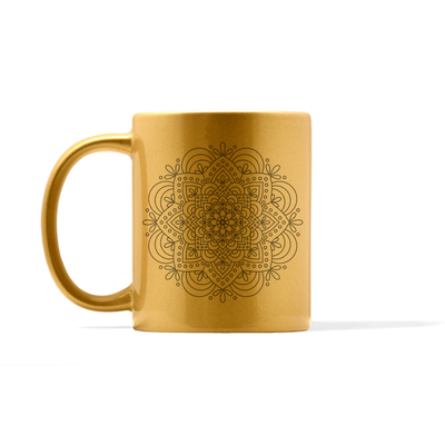 Metallic Mandala Number 4 Mug