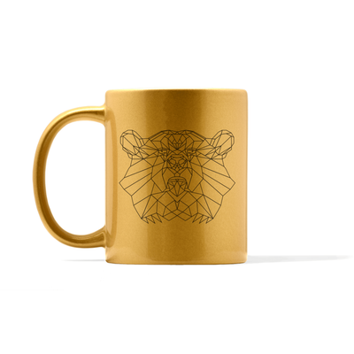 Metallic Bear Mug
