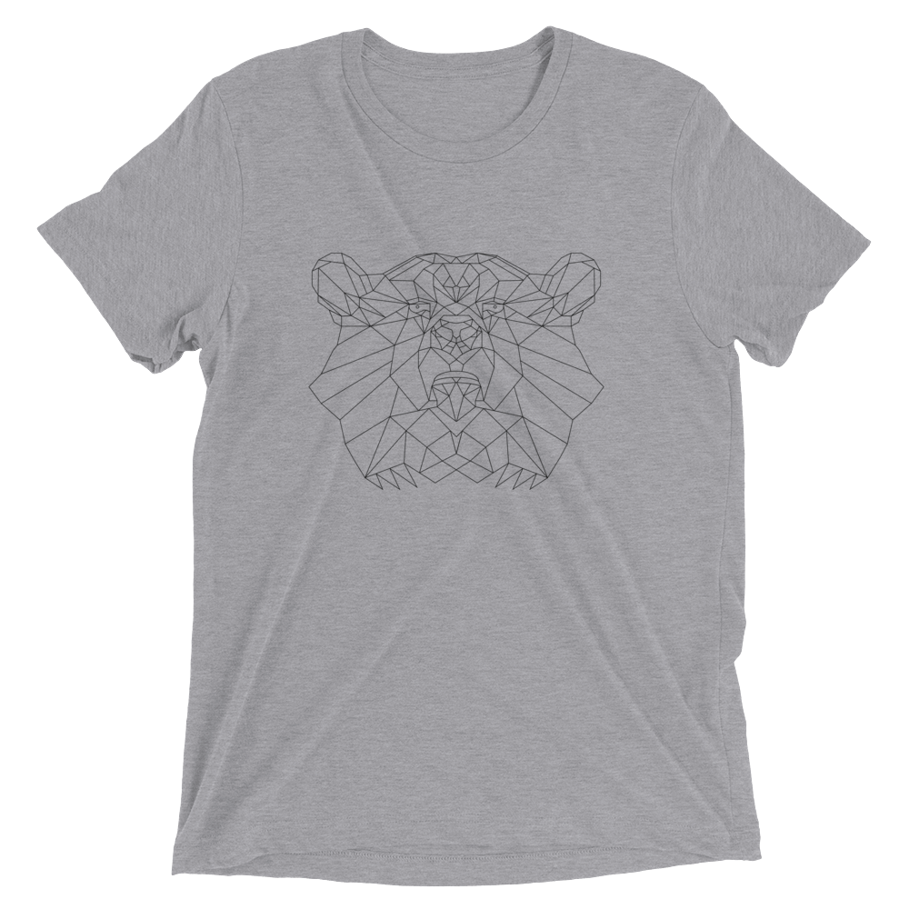 Men's Bare Bones Polygon Bear T-Shirt