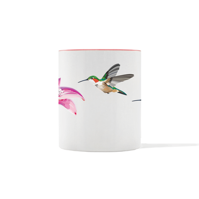 Hummingbird and Lily Mug