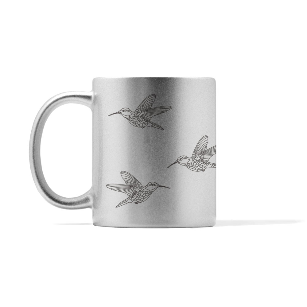 Metallic Flying Hummingbirds Mug