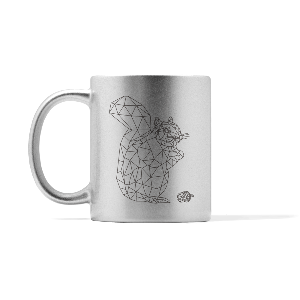 Metallic Squirrel Mug