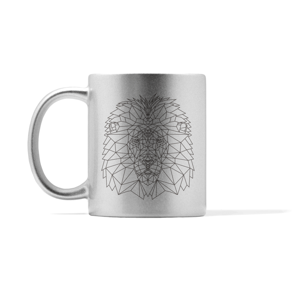 Metallic Lion Mug