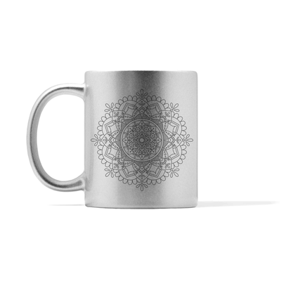 Metallic Mandala Number 2 Mug