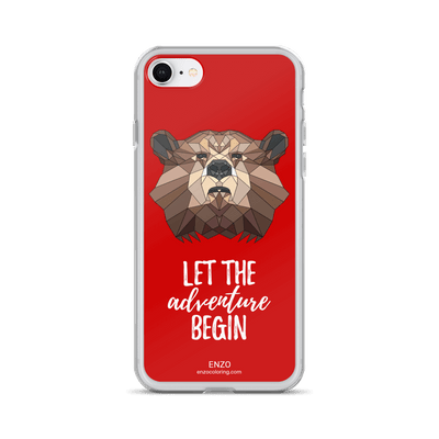iPhone Red Bkgrd Bear Phone Case