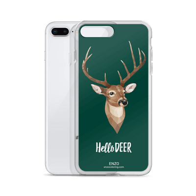 iPhone Green Bkgrd Deer Phone Case