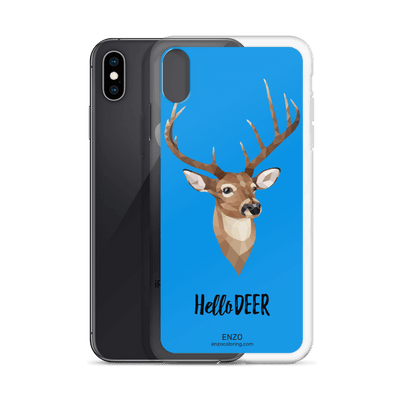 iPhone Blue Bkgrd Deer Phone Case