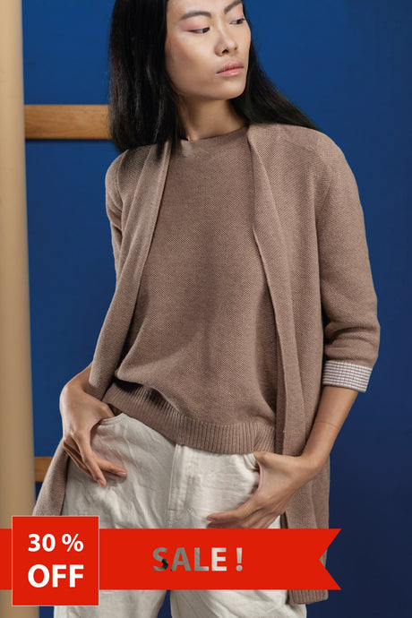 GARDENIA - ORGANIC COTTON CARDIGAN