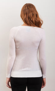 skin fit New Zealand merino wool SCILLA white