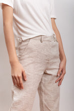 Load image into Gallery viewer, trouser in hemp, organic cotton fabric ELIANTO white/black