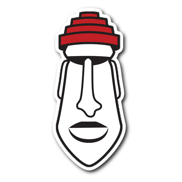 New Wave Moai Vinyl Decal