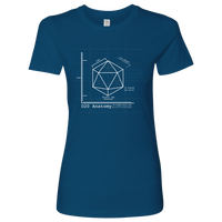 D20 Anatomy Blue Print T-Shirt