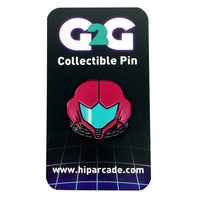 Metroid Fusion Glow in the Dark Enamel Pin