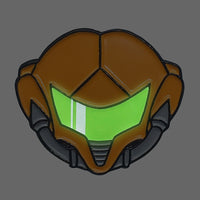 Metroid Zero Mission Glow in the Dark Enamel Pin