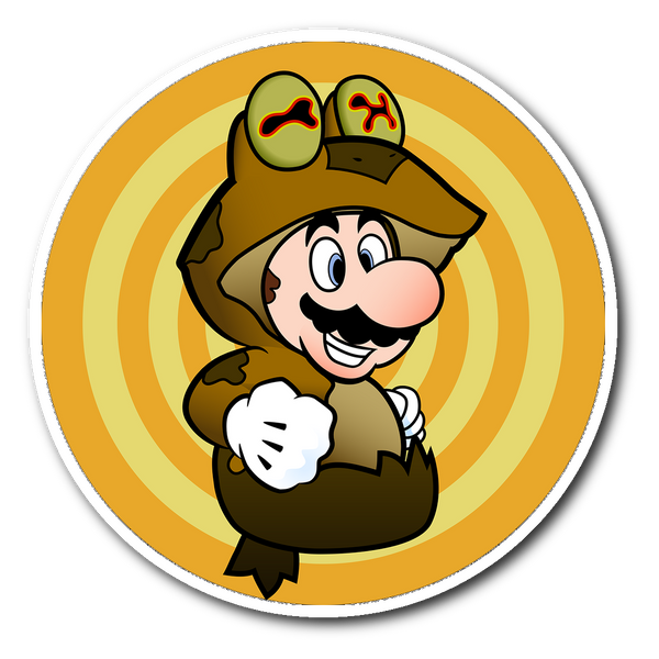 Mario Wears Hypnotoad Vinyl Sticker